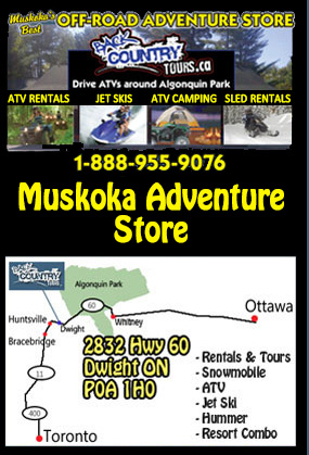 Back Country Tours Snowmobiling at Pinestone Resort Haliburton