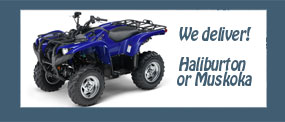 we deliver atv and snowmobiles to accommodation and resorts in muskoka and haliburton