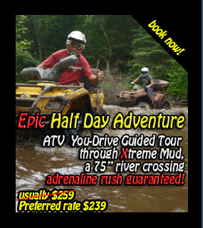Back Country Tours ATV at Couples Resort Muskoka