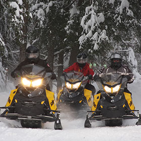 snowmobile rentals and tours for winter stag events bachelor parties
