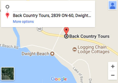 back country tours directions location