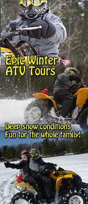 ultimate atv tour muskoka and algonquin park ontario