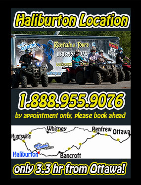 haliburton back country tours location for atv and snowmobile rentals and tours