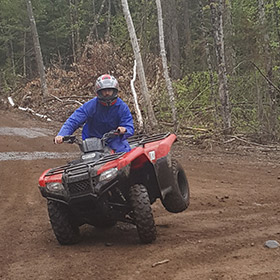 muskoka epic atv camping tour, atv tour into your campsite